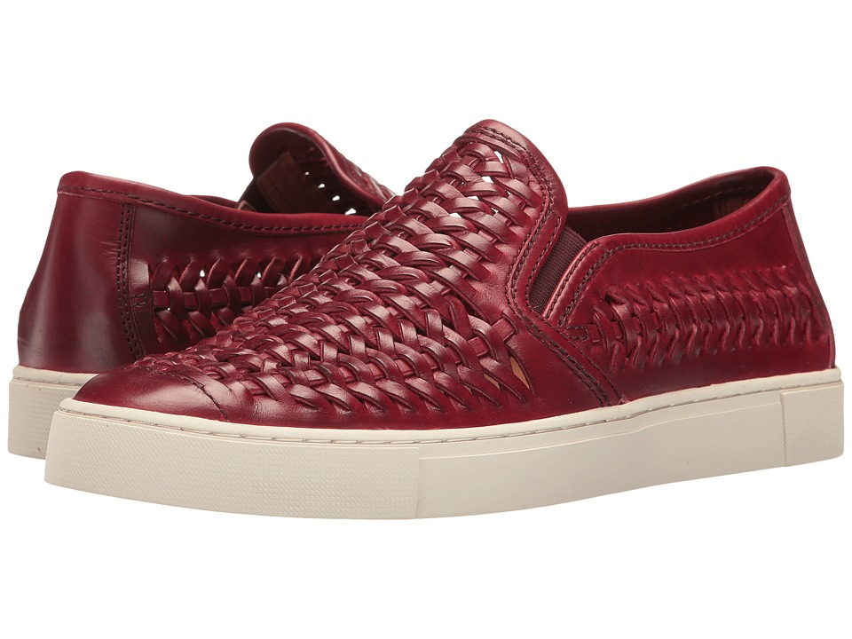 Frye Gabe Woven Slip-On (Burgundy Smooth Pull Up) Men