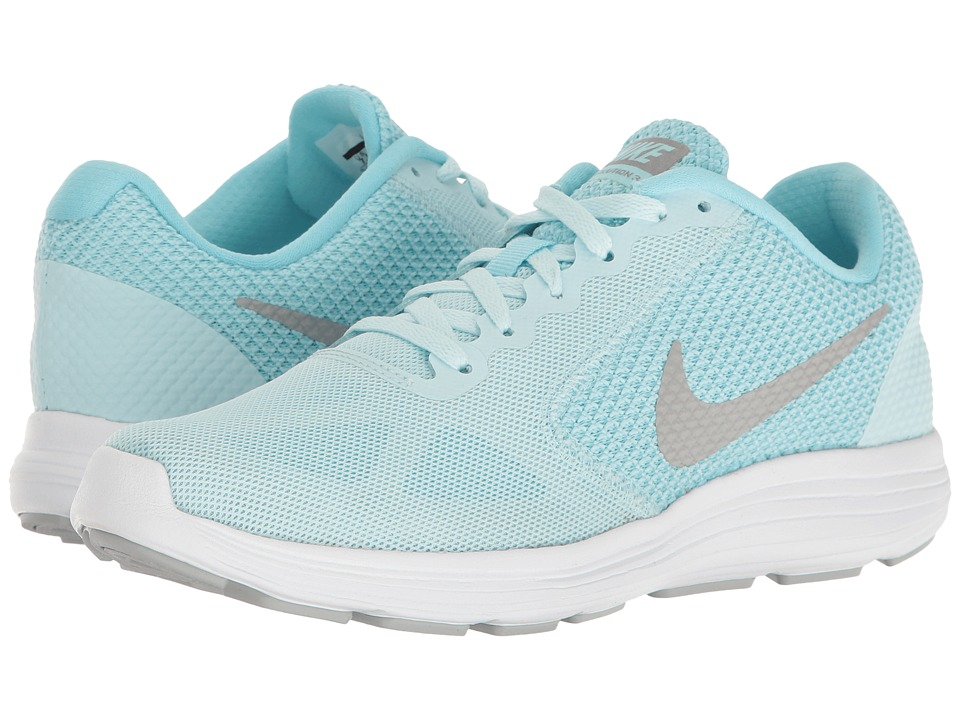 Nike - Revolution 3 (Glacier Blue/Matte Silver/Still Blue) Women's Running Shoes