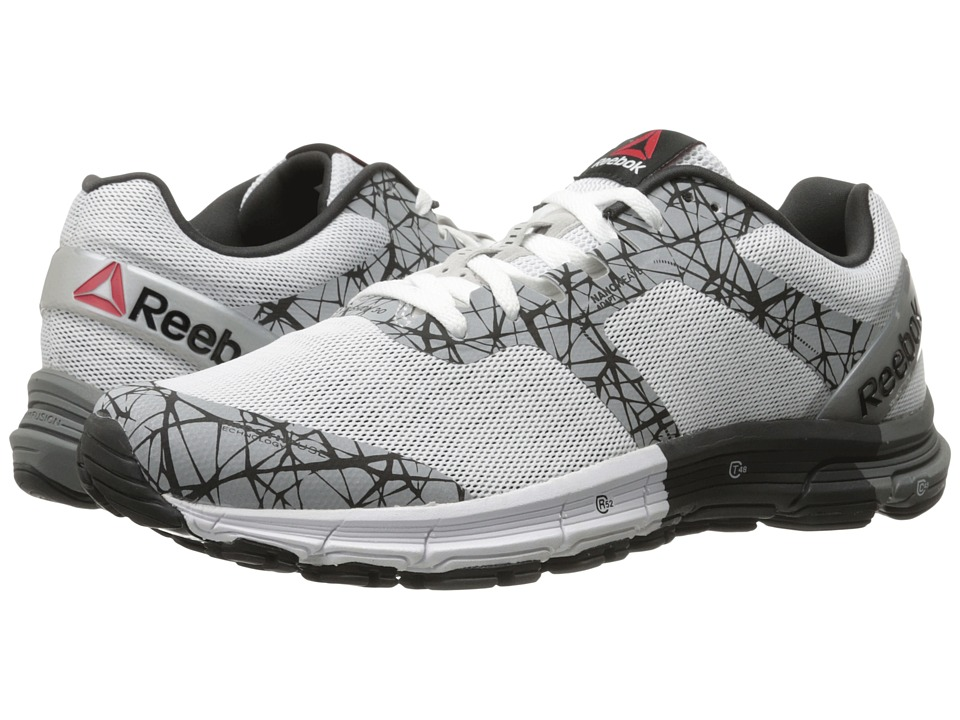 Reebok - One Cushion 3 Nite (Running White/Silver Metallic) Men's Shoes