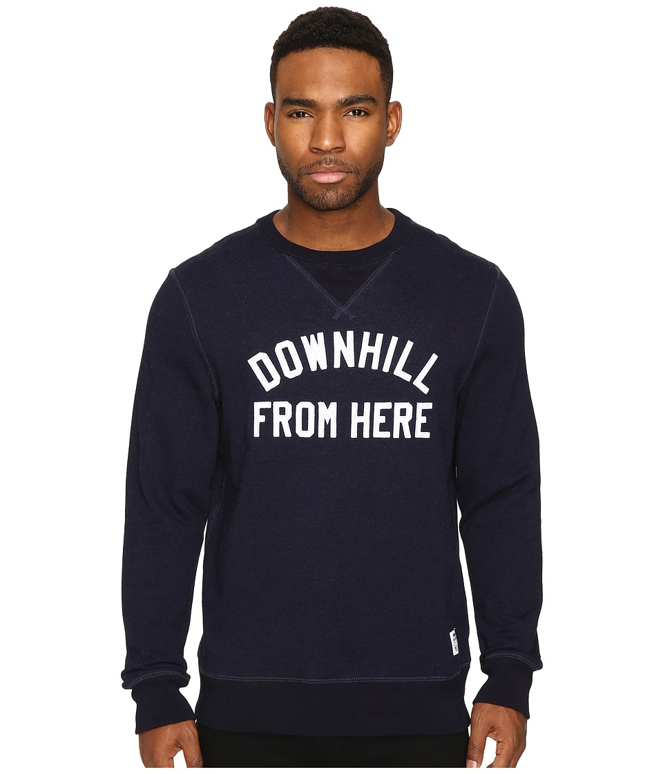 HUF - DFH Crew Fleece (Indigo Blue) Men's Sweater