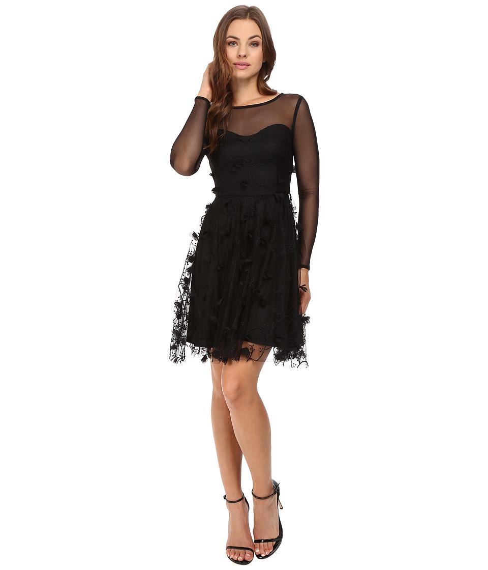 Eva by Eva Franco - Tracy Dress (Black Petals) Women's Dress