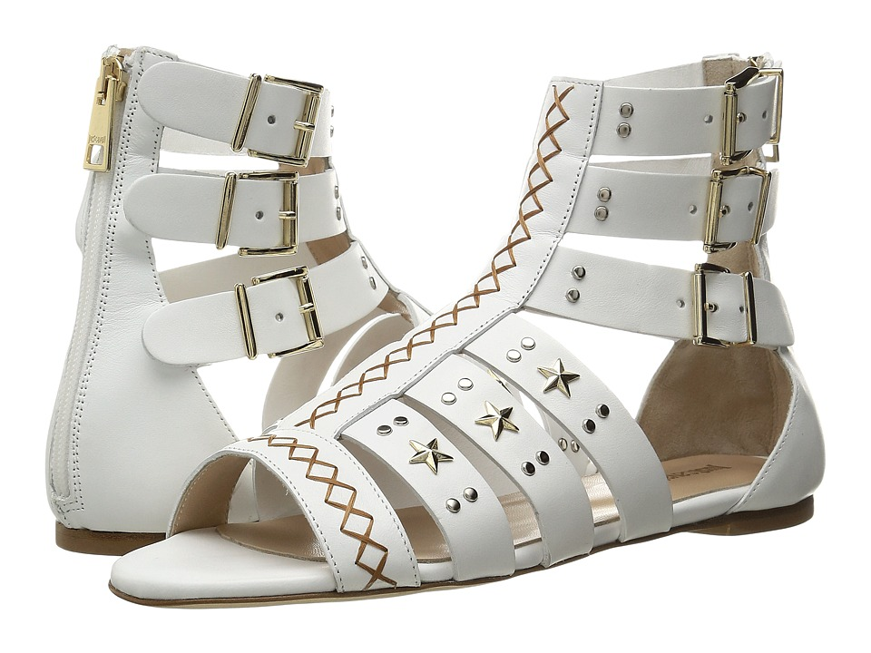 Just Cavalli - Leather Star and Stud Sandal (White) Women's Shoes