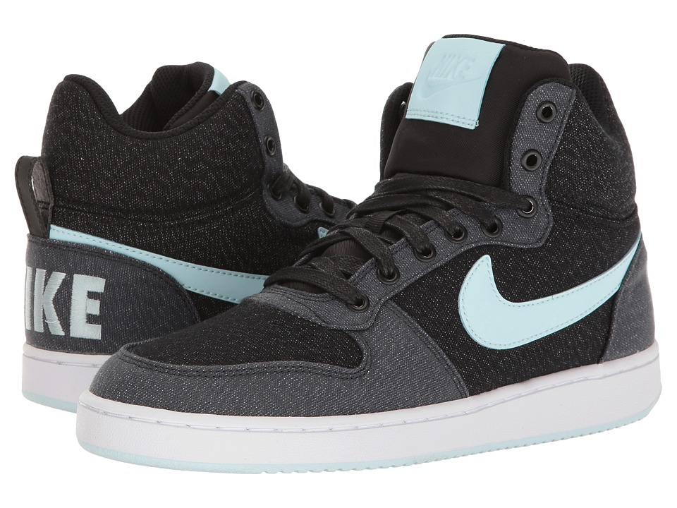 Nike - Recreation Mid-Top Premium (Black/Glacier Blue/Anthracite) Women's Shoes