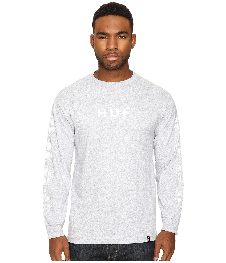 HUF - BDR Long Sleeve T-Shirt (Grey Heather) Men's T Shirt