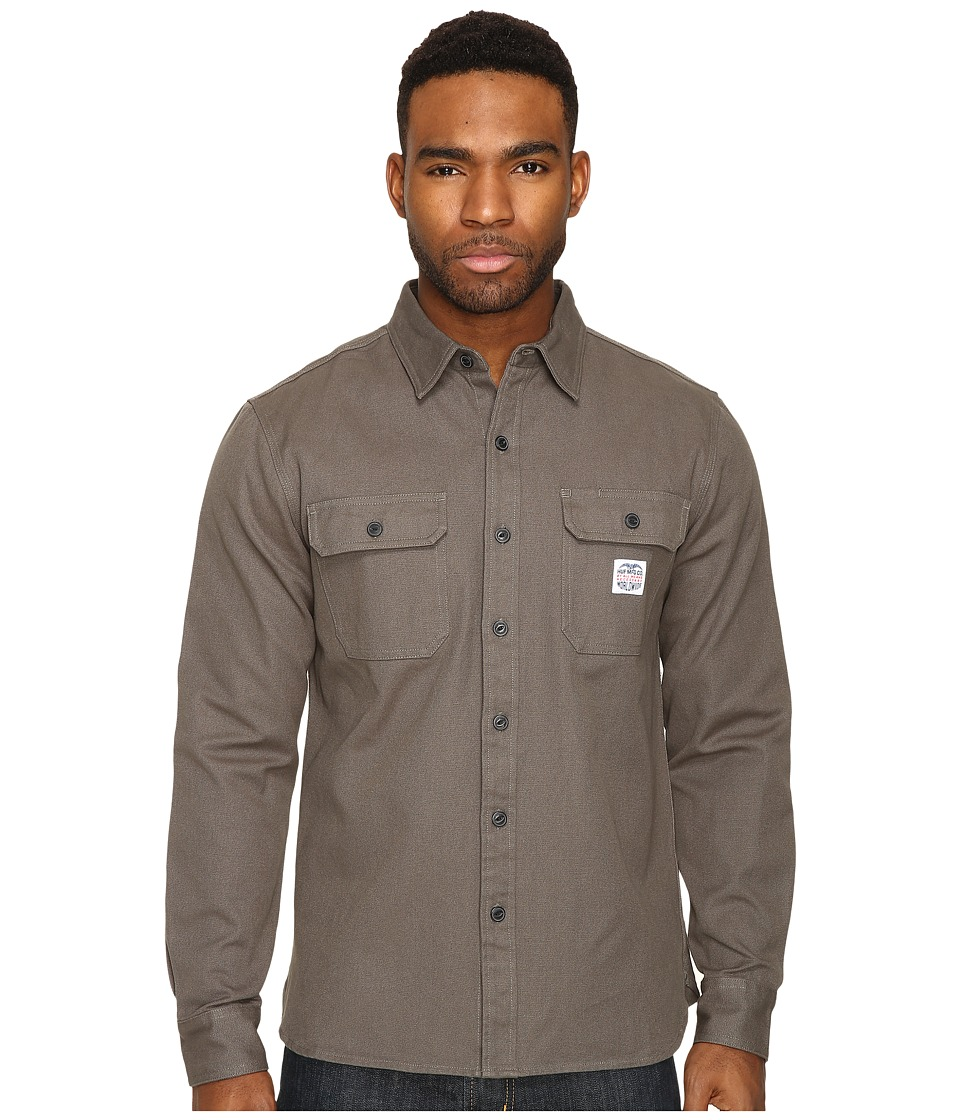 HUF - MFG Canvas Shirt (Olive) Men's Clothing
