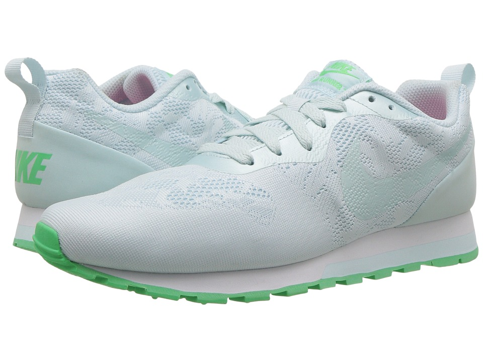 Nike - MD Runner 2 BR (Glacier Blue/Glacier Blue/Electro Green) Women's Shoes