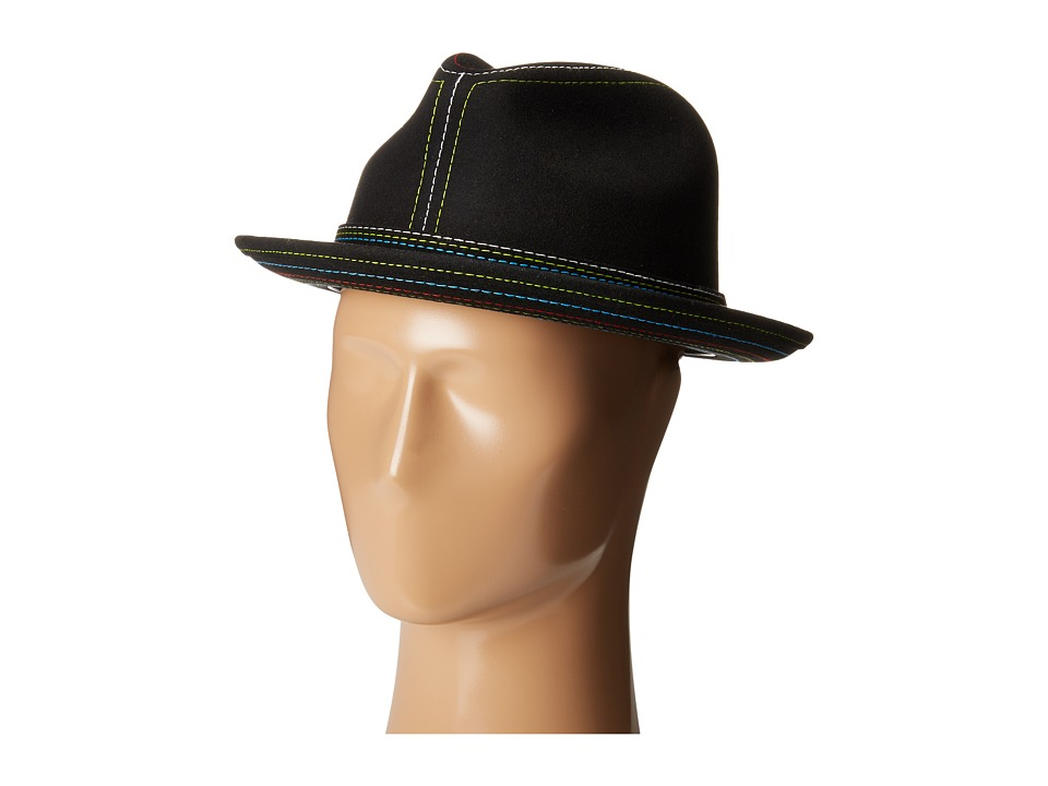 CARLOS by Carlos Santana - Cashmere Wool Pinch Front Hat (Black) Traditional Hats