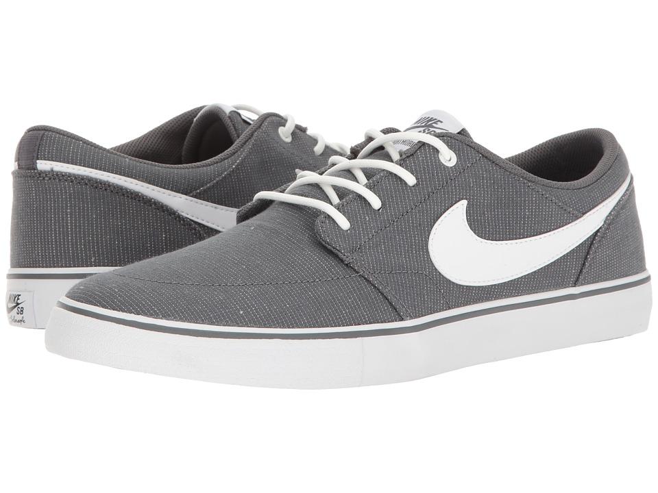 Nike SB - Portmore II Solar Canvas Print (Dark Grey/White/Black) Men's Skate Shoes