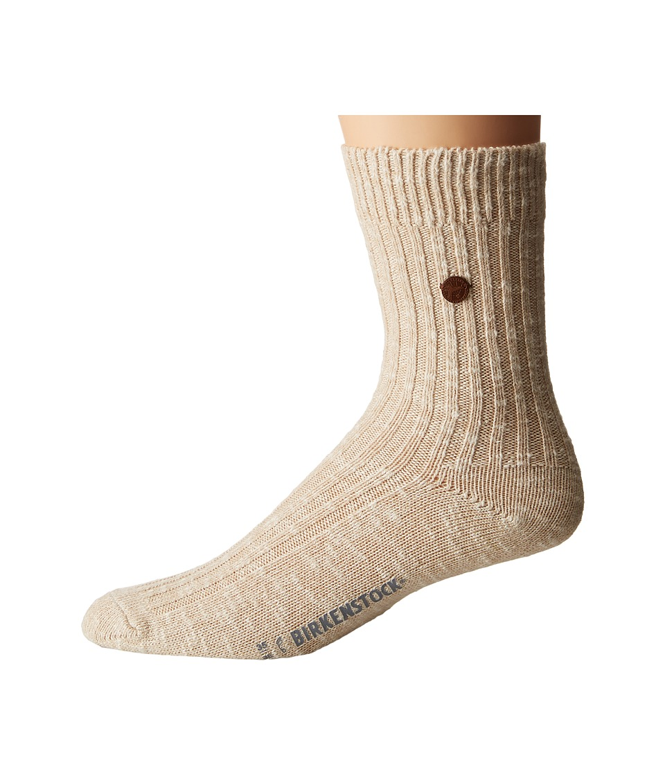 Birkenstock - London Socks (Beige) Crew Cut Socks Shoes