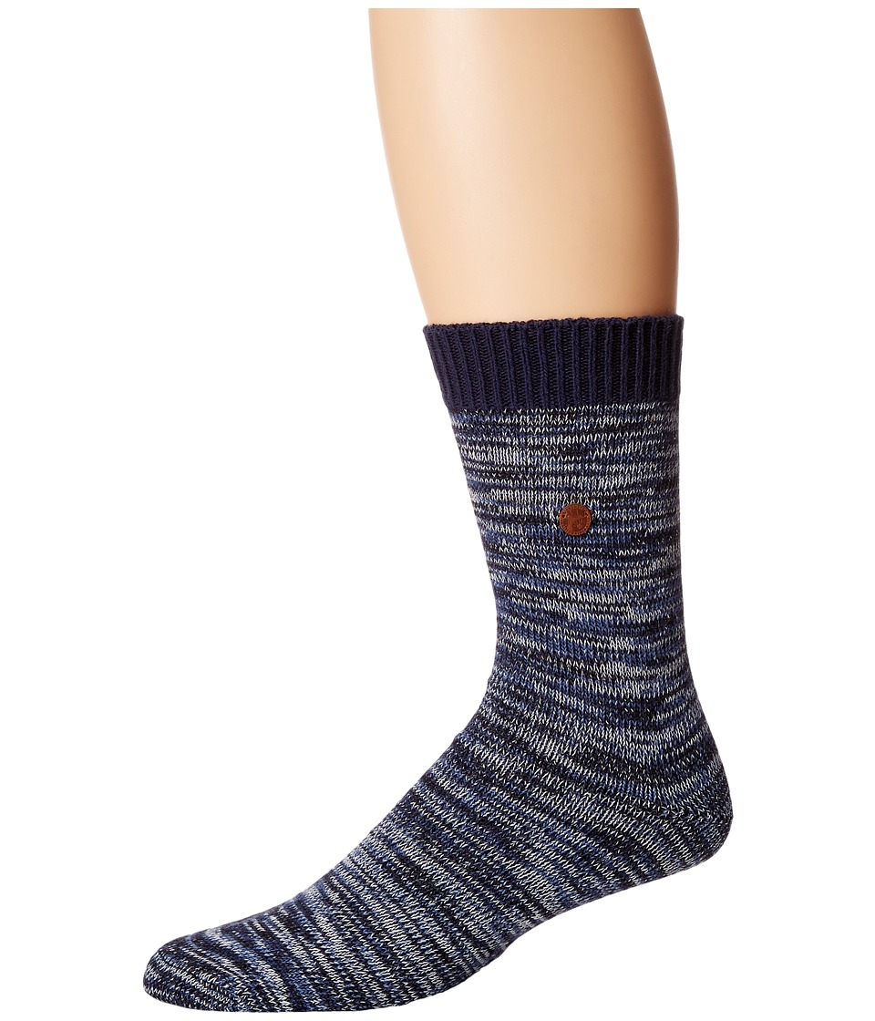 Birkenstock - Roma Socks (Blue) Crew Cut Socks Shoes