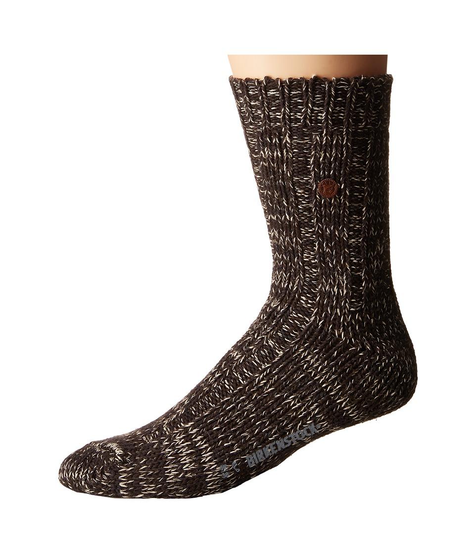 Birkenstock - Sydney Socks (Brown) Crew Cut Socks Shoes