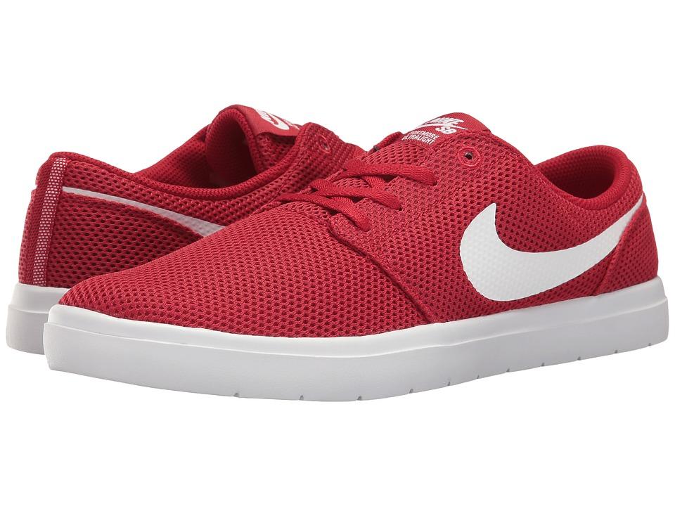 Nike SB Portmore II Ultralight (Gym Red/White) Men