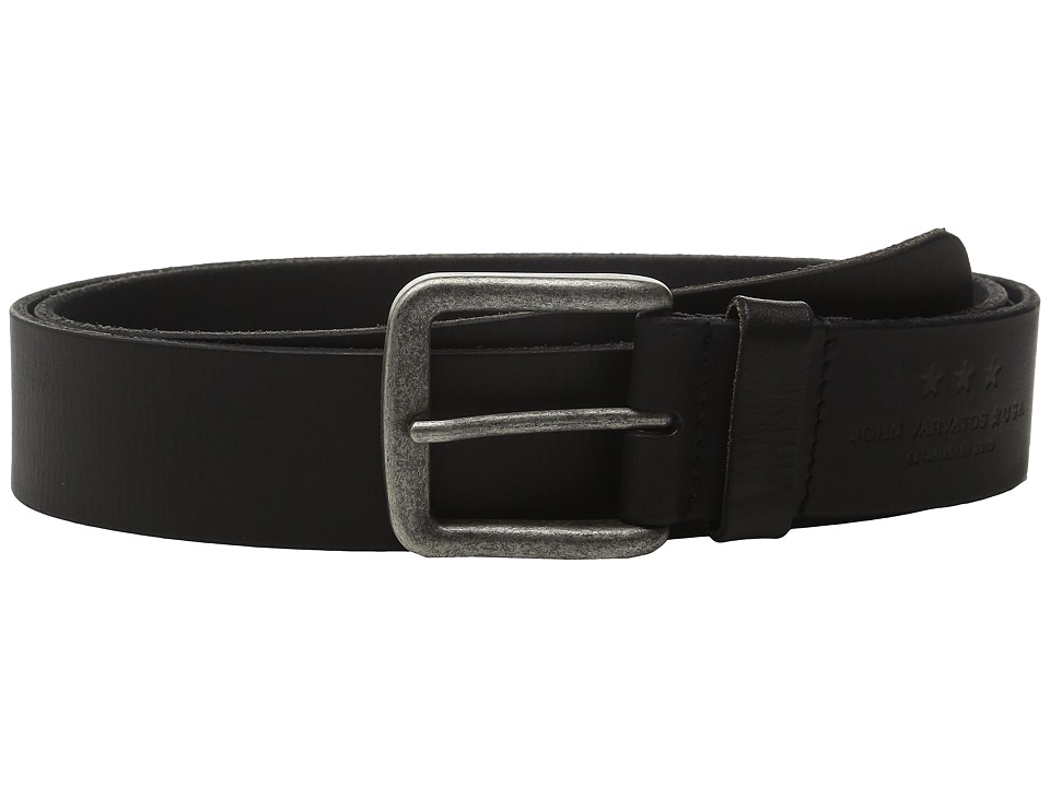 John Varvatos - 40mm Fullweight Leather Harness Belt (Black) Men's Belts