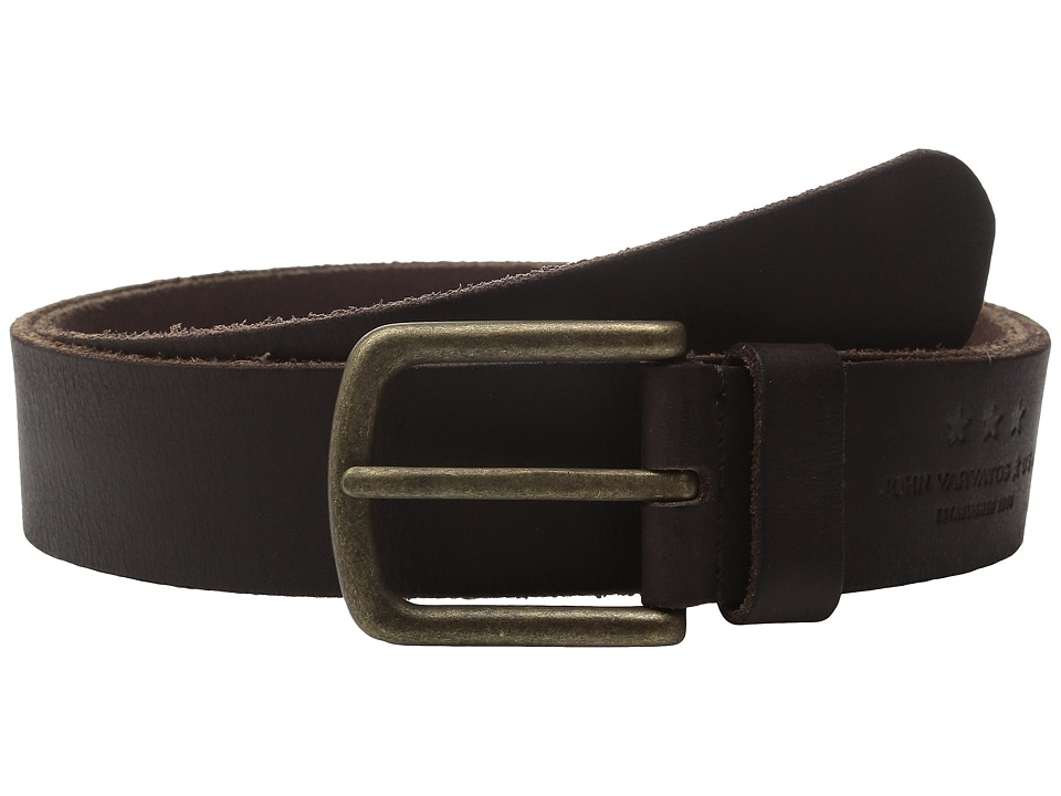 John Varvatos Star U.S.A. - 40mm Fullweight Leather Harness Belt (Chocolate) Men's Belts