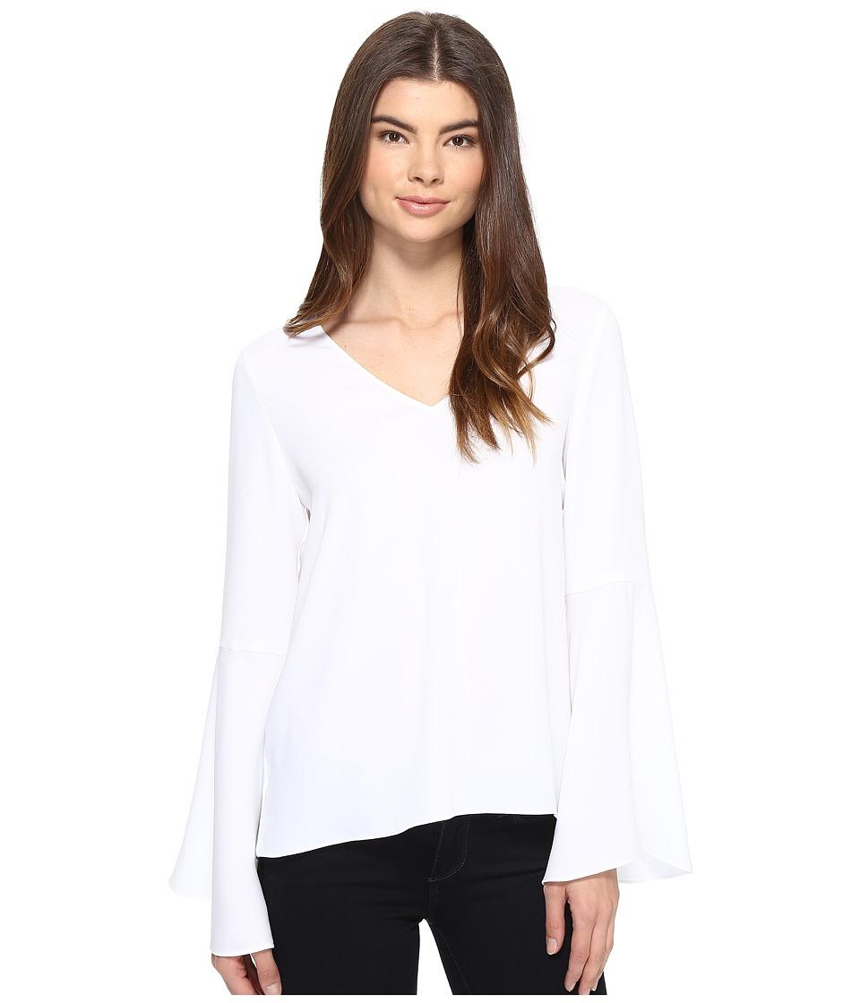 CATHERINE Catherine Malandrino - Georgette Bell Sleeve Top (White Star) Women's Clothing