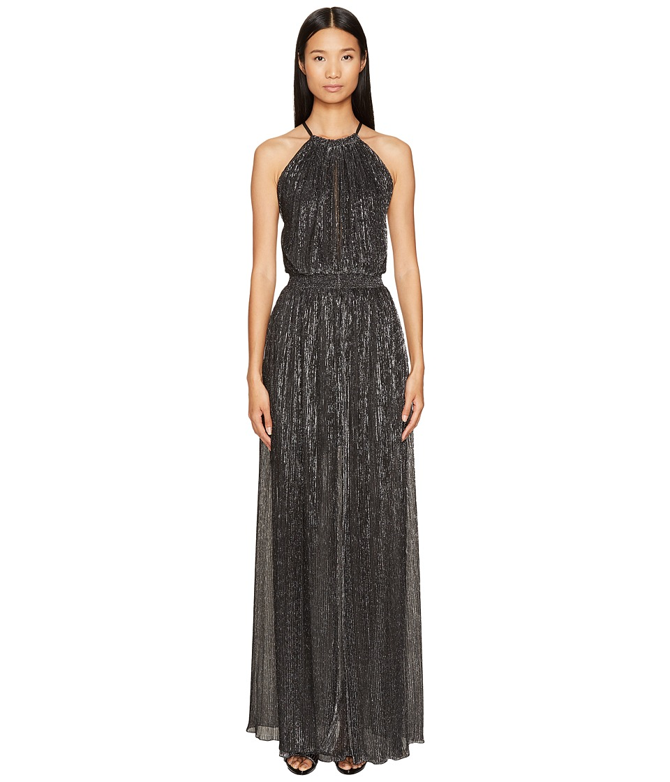Just Cavalli Halter Sheer Long Dress (Black) Women