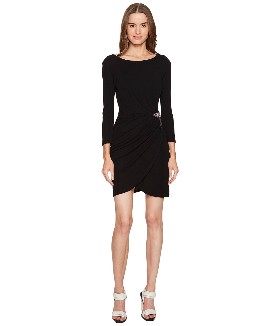 Just Cavalli - Long Sleeve Jersey Star Dress (Black) Women's Dress