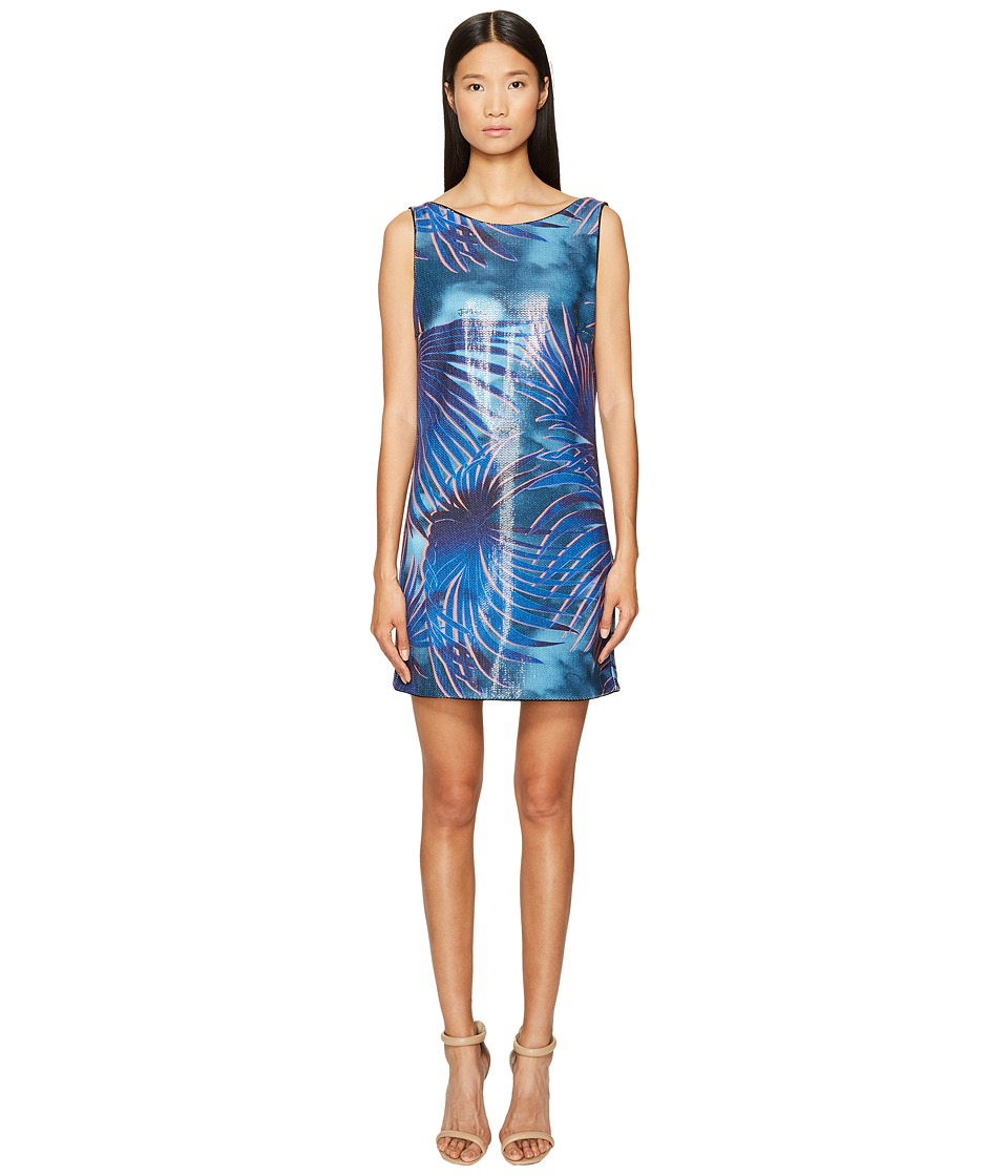 Just Cavalli Tie-Dye Palm Print Sleeveless Dress