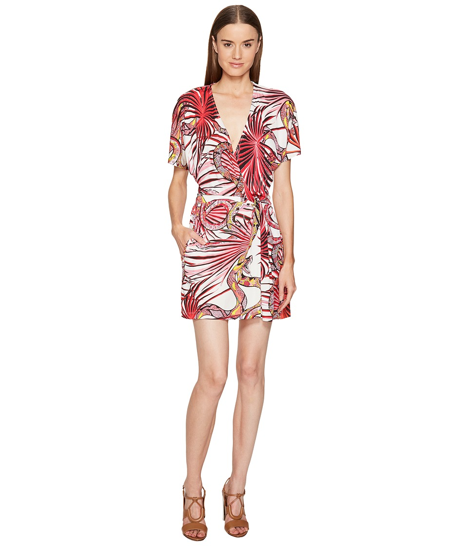 Just Cavalli - Temptation Printed Wrap Dress (Apricot Variant) Women's Dress