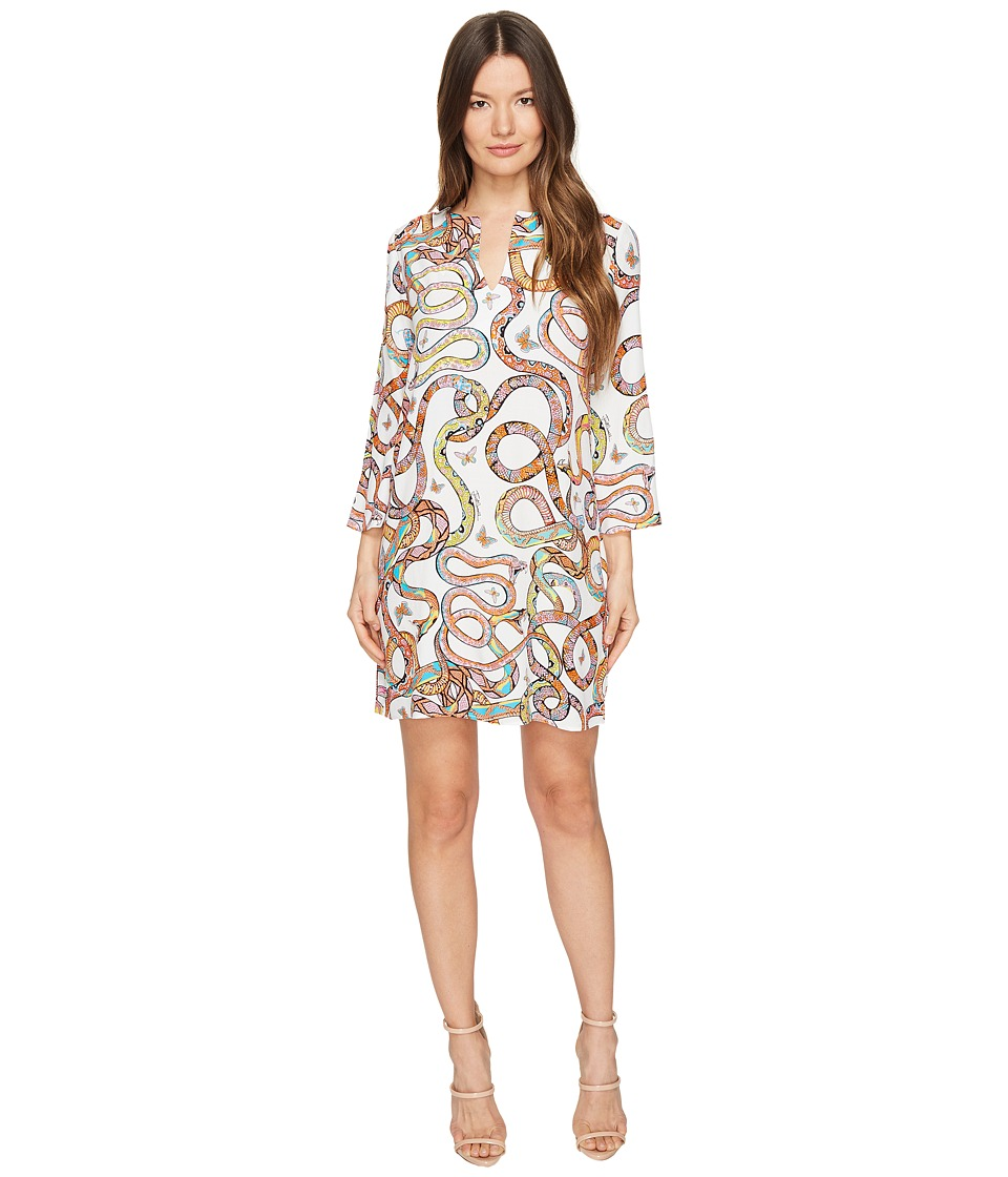 Just Cavalli Obsession Wonders Long Sleeve Shift Dress