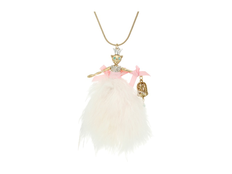 Betsey Johnson - Pink Mouse Doll Large Pendant Necklace (Pink Multi) Necklace