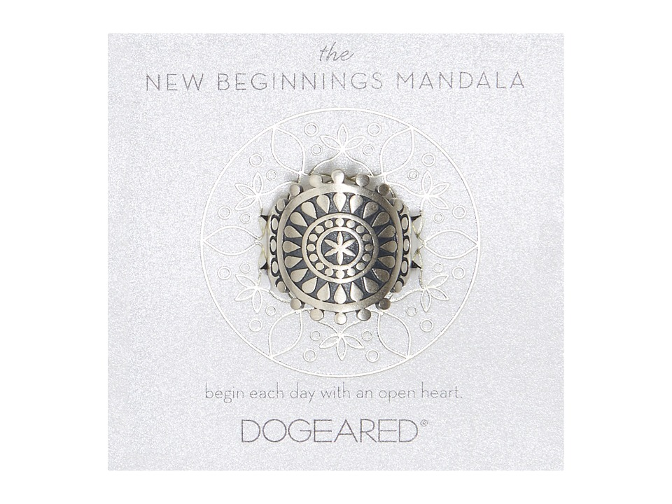 Dogeared - New Beginnings Mandala Center Star Ring (Sterling Silver) Ring