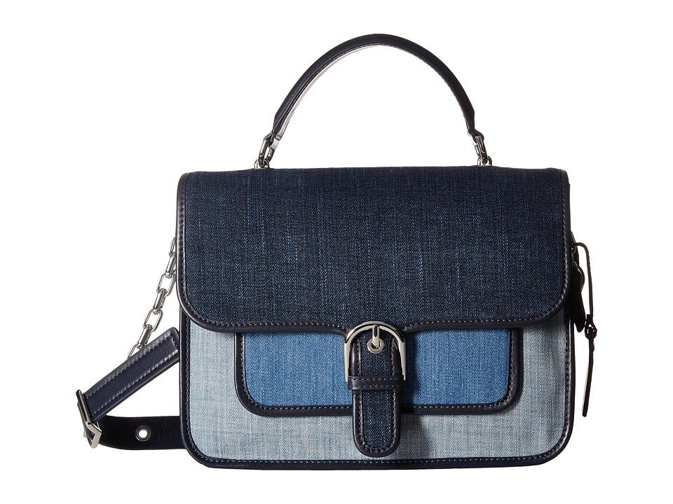 MICHAEL Michael Kors - Cooper Large School Satchel (Indigo/Light Denim/Washed Denim) Satchel Handbags