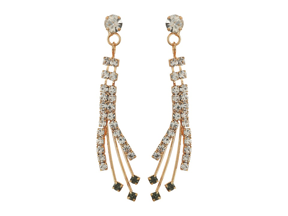 Betsey Johnson - Crystal/Gold Spray Forever Brilliant Earrings (Crystal) Earring