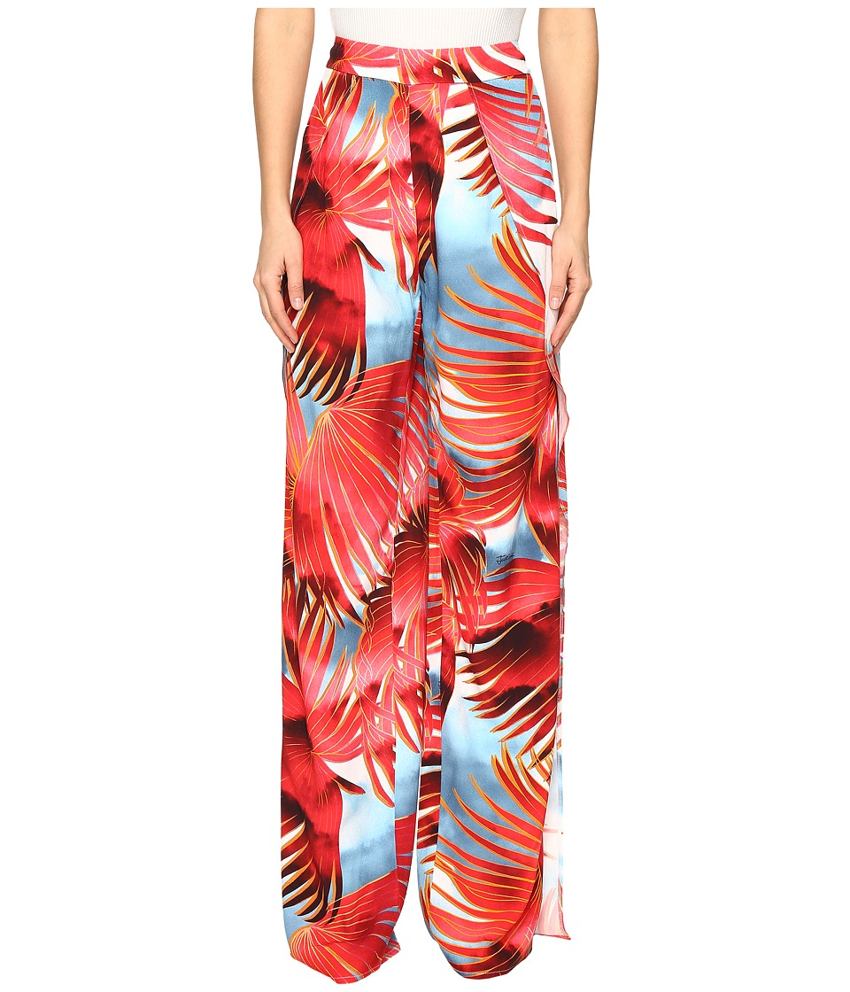 Just Cavalli - Palm Print Pants (Fire Variant) Women's Casual Pants