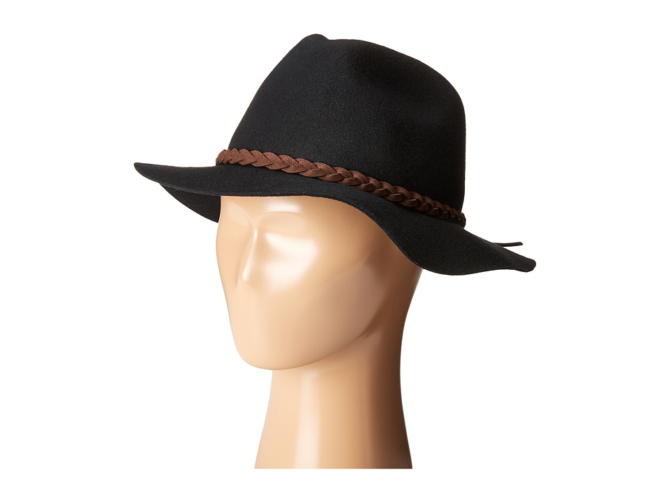 SCALA - Wool Felt Rancher with Braid (Black) Traditional Hats