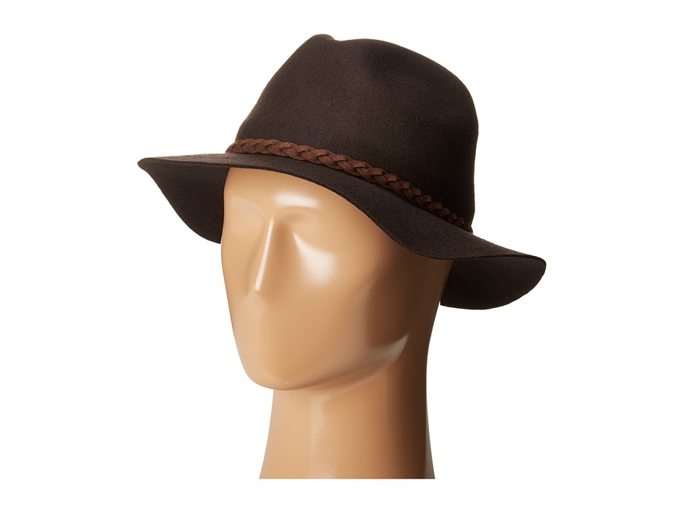 SCALA - Wool Felt Rancher with Braid (Chocolate) Traditional Hats