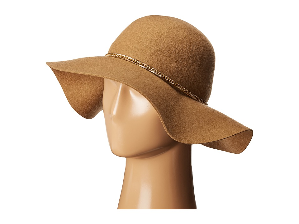 SCALA - Wool Felt Floppy with Chain (Camel) Traditional Hats