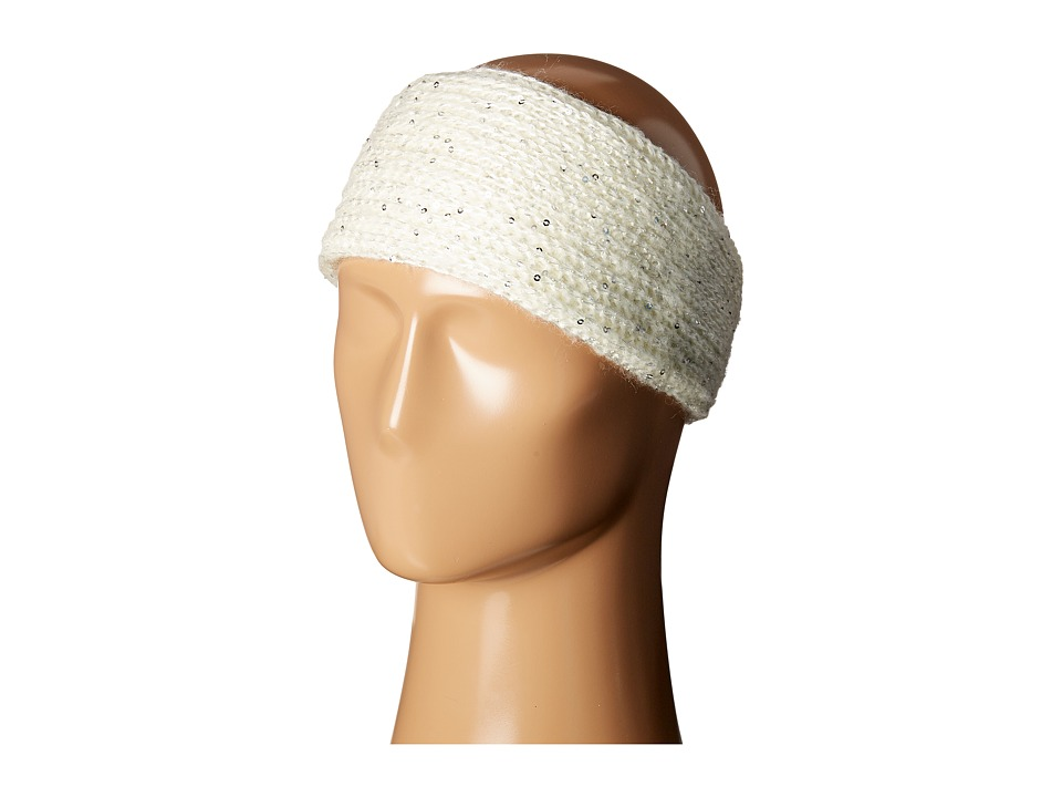 SCALA - Knit Headband with Sequins (Ivory) Headband