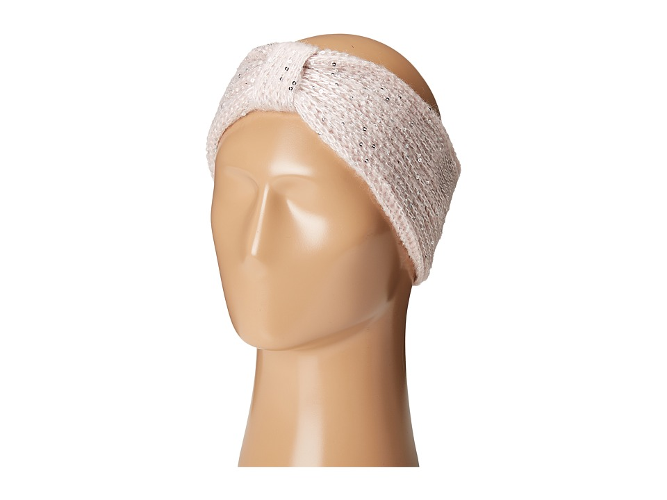 SCALA - Knit Headband with Sequins (Pink) Headband