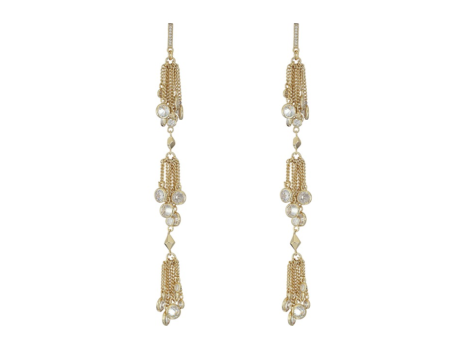 Kendra Scott - Tallulah Shoulder Duster Earrings (Gold/White CZ) Earring