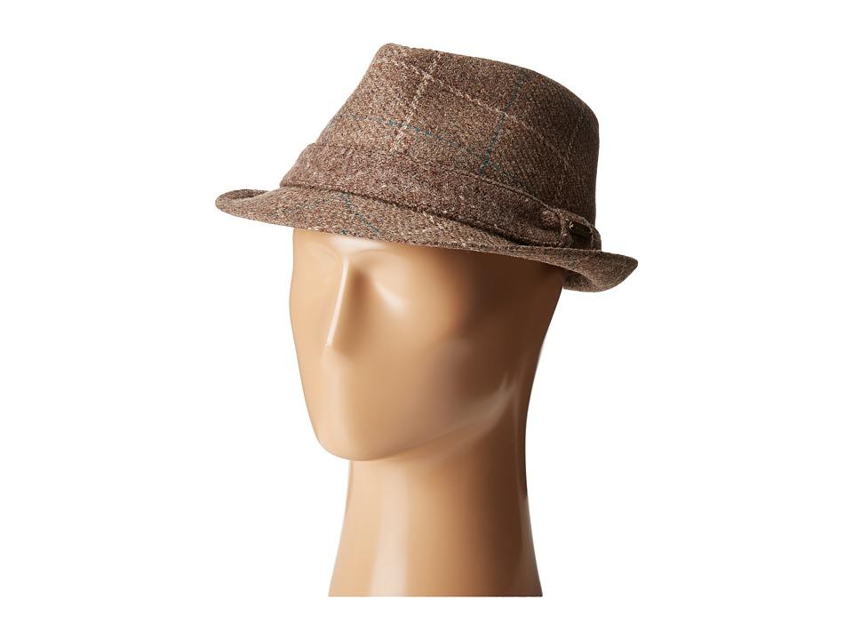 Stetson - Italian Fabric Fedora (Brown) Fedora Hats