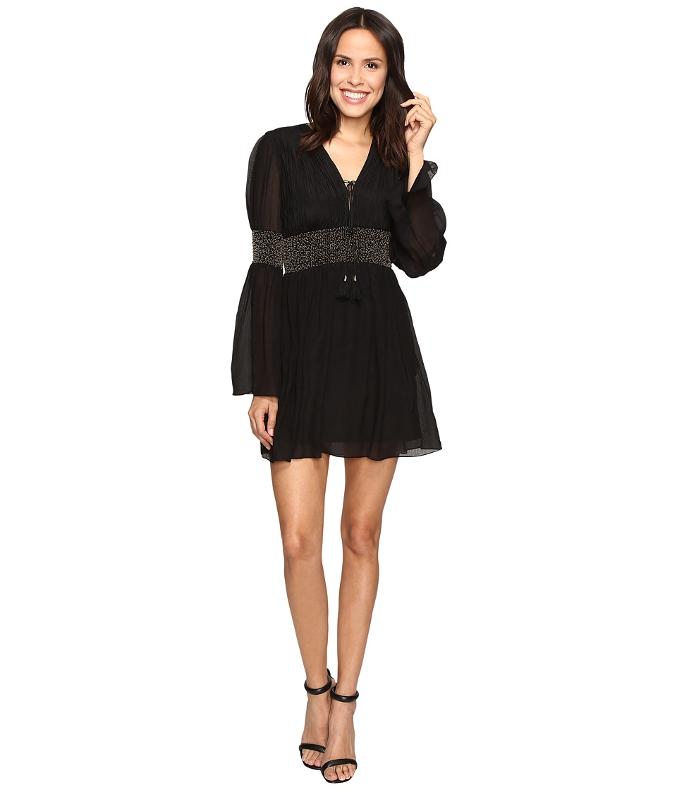 Rachel Zoe - Laurel Crinkle Chiffon Dress (Black) Women's Dress