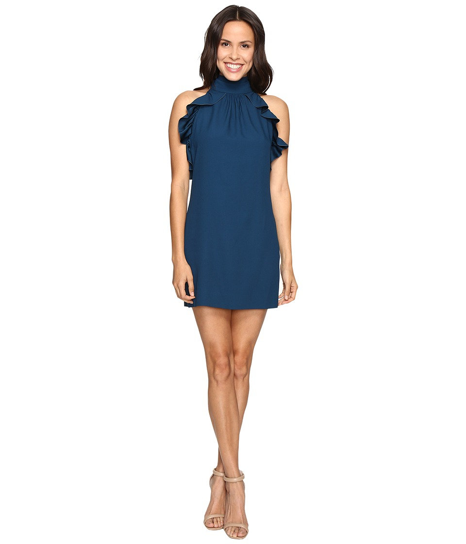 Rachel Zoe - Eden Satin Back Crepe Dress (Dark Cobalt) Women's Dress