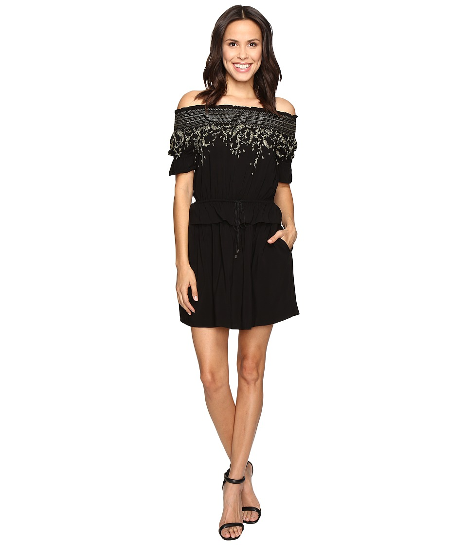 Rachel Zoe - Bethany Off the Shoulder Dress (Black) Women's Dress