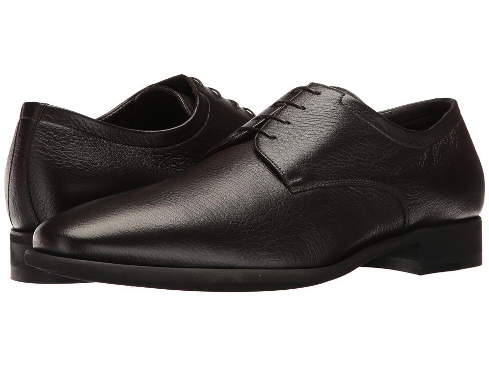 Image of a. testoni - Deer Alo Derby (Dark Brown) Men's Shoes