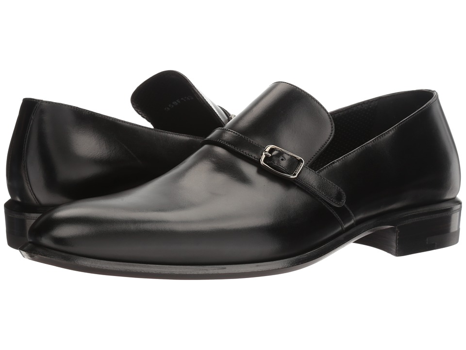a. testoni - Lux Calf Slip-On Loafer (Black) Men's Slip on Shoes