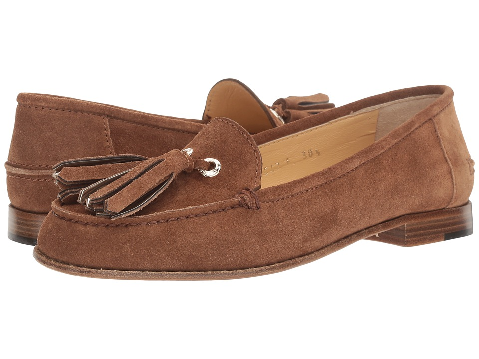 a. testoni - Tassel Loafer (Tan) Women's Slip on Shoes