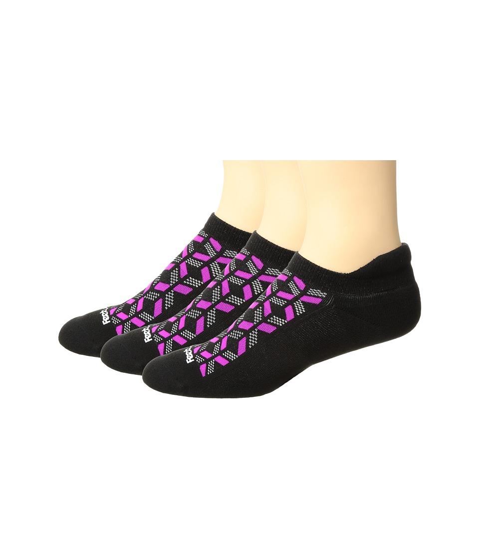Feetures - High Performance Cushion No Show Tab 3-Pair Pack (Black 1) No Show Socks Shoes