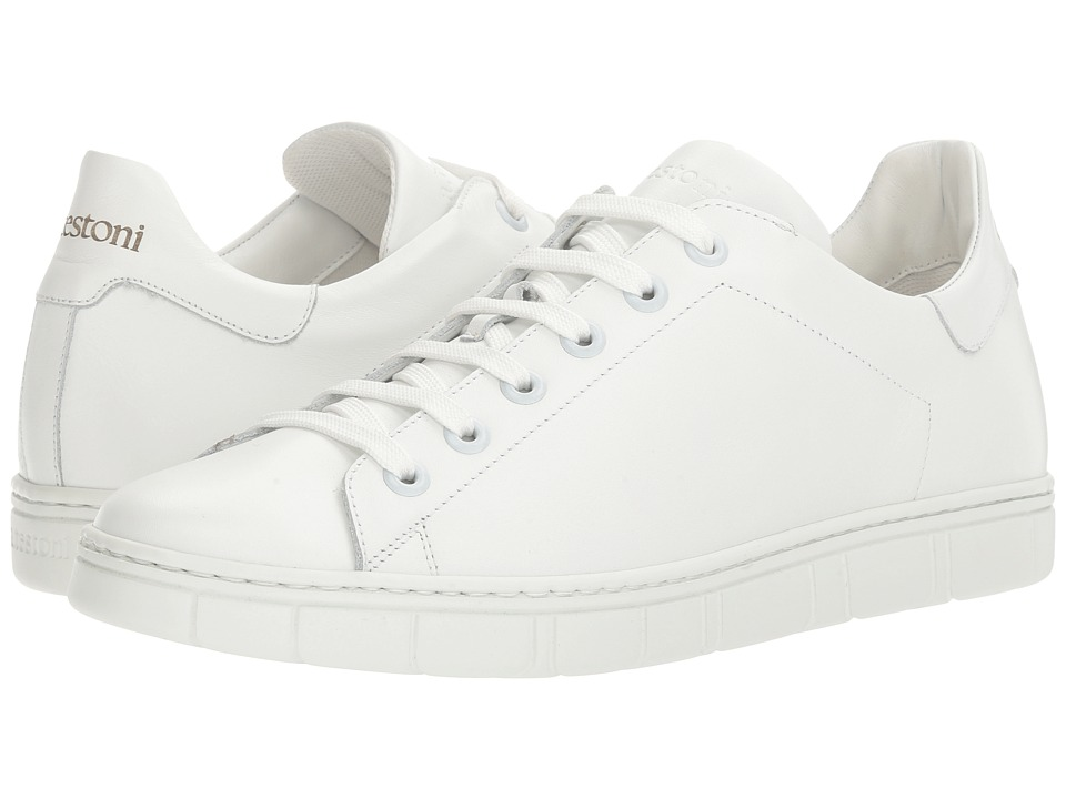 a. testoni - Sport Nappa Calf Sneaker (White) Men's Shoes