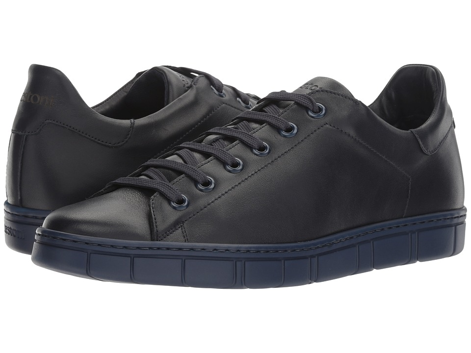 a. testoni - Sport Nappa Calf Sneaker (Navy) Men's Shoes