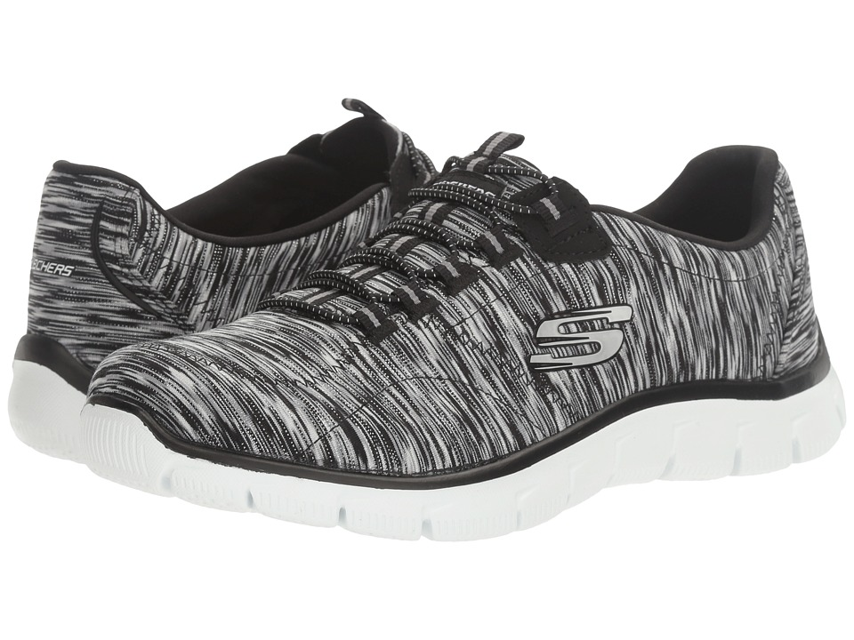 SKECHERS - Empire - Game On (Black/White) Women's Lace up casual Shoes