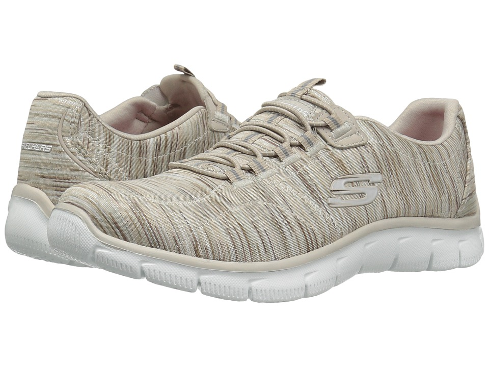 SKECHERS - Empire - Game On (Taupe) Women's Lace up casual Shoes