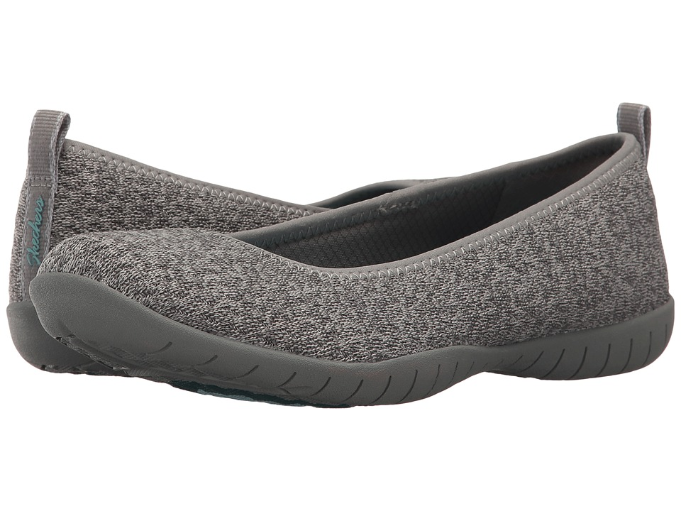 SKECHERS - Atomic - Piece-of-Cake (Gray) Women's Flat Shoes