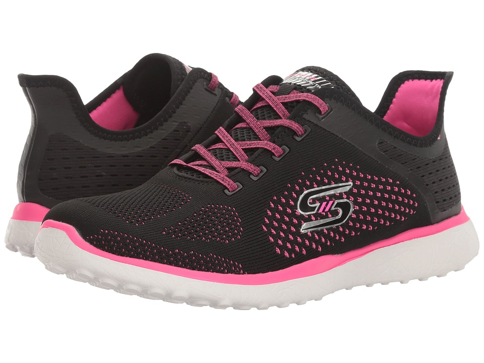 SKECHERS - Mircroburst - Supersonic (Black/Pink) Women's Lace up casual Shoes