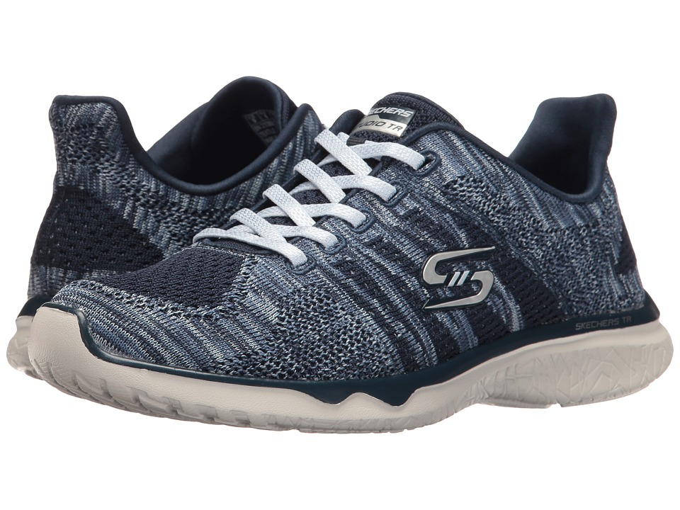 SKECHERS - Studio Burst - Edgy (Navy/Blue) Women's Lace up casual Shoes